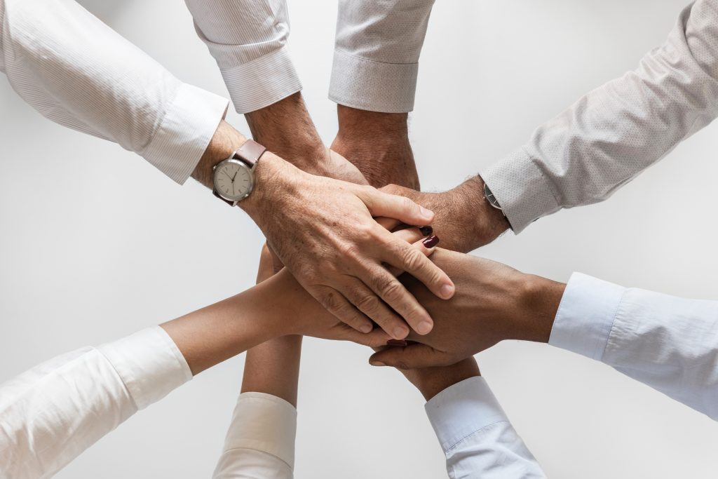 hands linking - concerted activity